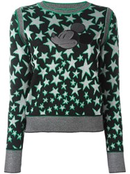 Marc Jacobs Star Jacquard Applique Jumper Black