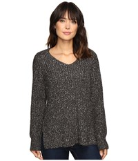 Sanctuary Sequoia V Neck Sweater Marled Mica Grey Women's Sweater Gray