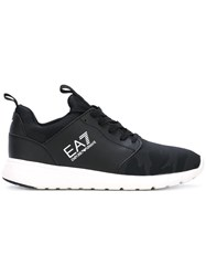 Emporio Armani Ea7 Lateral Logo Lace Up Sneakers Black
