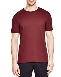 Vince Color Block Crewneck Tee Claret