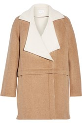 Tanya Taylor Bernadette Convertible Wool Blend Coat Tan