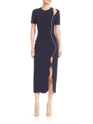 Roksanda Ilincic Sabra High Slit Dress Navy