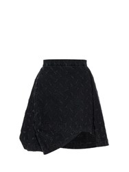 Vivienne Westwood Aztek Slash Cut A Line Denim Skirt Black