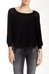 French Connection Sloaine Slub Scoop Neck Sweater Black