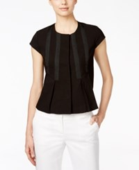 Nine West Lace Short Sleeve Jacket Black