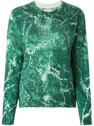 Each X Other Marble Print Sweater Green