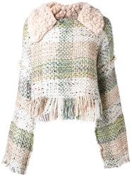 Lalo Cropped Tweed Jumper