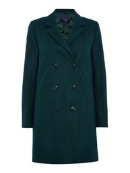 Gant Double Breasted Wool Coat Green
