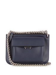 Marni Trunk Bi Colour Leather Cross Body Bag Red Navy