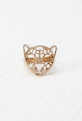 Forever 21 Cutout Leopard Cocktail Ring Gold