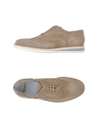 Bepositive Lace Up Shoes Sand