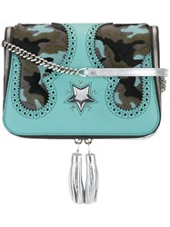 The Volon Camouflage Detail Crossbody Bag Blue