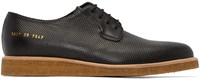 Common Projects Black Perforated Derbys