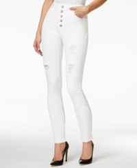 Nanette By Nanette Lepore Ludlow Ripped Skinny Daffodil White Wash Jeans