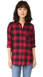 Rails Jackson Button Down Shirt Red Black Check