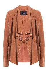 Steffen Schraut Draped Suede Jacket Brown