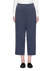 Vince Tie Print Silk Georgette Lounge Pants Blue