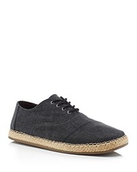 Toms Camino Canvas Espadrille Sneakers Black