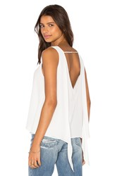 Krisa Double Layer Tie Back Tank White