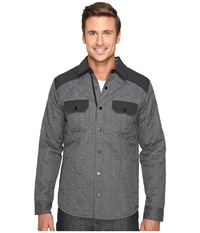 Smartwool Summit County Quilted Shirt Jacket Charcoal Heather Men's Clothing Gray