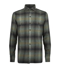 Tom Ford Flannel Check Shirt Male Green