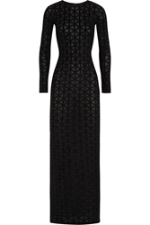 Gareth Pugh Geometric Devora Velvet Maxi Dress