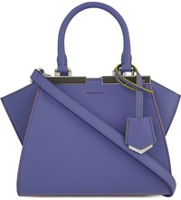 Fendi Mini 3Jours Leather Tote Purple