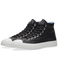 Junya Watanabe Man Leather High Top Sneaker Black