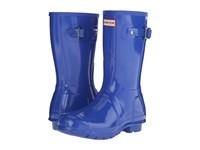 Hunter Original Short Gloss Bright Cobalt Women's Rain Boots Blue