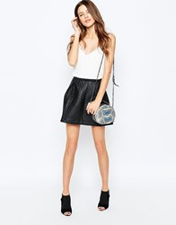 Y.A.S Ulli Quilted Faux Leather Skirt Y.A.S Ulli Quilted F Black