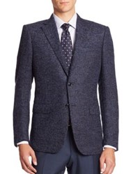 Ermenegildo Zegna Tailored Fit Wool Sportcoat Navy