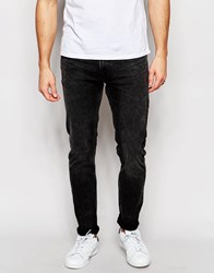 Weekday Jeans Friday Skinny Fit Generic Black Acid Wash Black