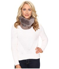 Ugg Classic Panel Snood Stormy Grey Scarves Gray