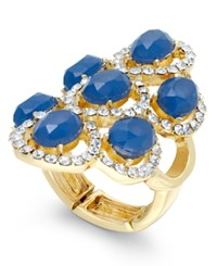 Inc International Concepts Gold Tone Stone And Pave Statement Stretch Ring Only At Macy's
