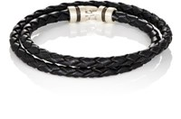 Zadeh Men's Esteban Double Wrap Bracelet Black