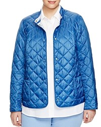 Marina Rinaldi Plus Palpito Quilted Jacket Sky Blue