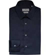 Canali Regular Fit Cotton Shirt Navy