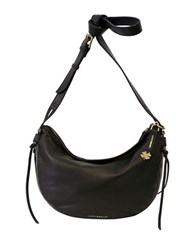 Lucky Brand Nyla Leather Crescent Hobo Bag Black