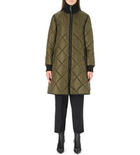 Sportmax Manager Quilted Puffer Coat Khaki