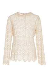 Tryb212 Ivory Lace Michelle Top Off White
