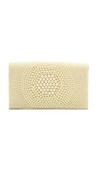 Alice Olivia Be Beaded Clutch Nude