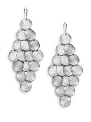 Amrita Singh Mixed Metal Disc Chandelier Earrings Silver