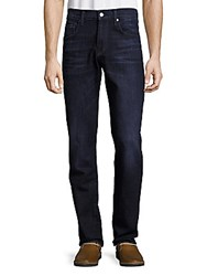 7 For All Mankind Straight Fit Whiskered Jeans Reagen