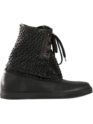 Vivienne Westwood Perforated Distressed Boots Black