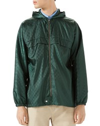 Gucci Gg Hooded Nylon Jacket Teal Blue Size 52