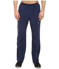 Nike Dri Fit Stretch Woven Running Pant Midnight Navy Reflective Silver Men's Workout Blue