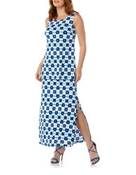 Rafaella Double Layer Maxi Dress Azure Blue