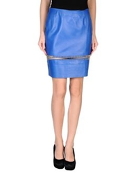 Hotel Particulier Knee Length Skirts Blue