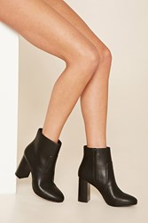 Forever 21 Faux Leather Ankle Booties