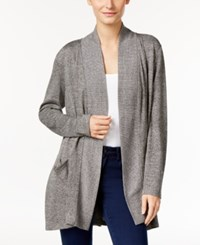Styleandco. Style Co. Petite Melange Open Front Cozy Cardigan Only At Macy's Grey